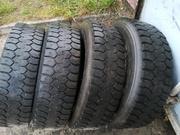 Шины ведущие для грузового автомобиля 225/75R17, 5 DUNLOP SP-431 б/у