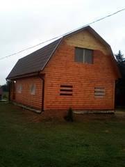 Дом-Баня из бруса готовые срубы с установкой-10 дней недорого Гродно