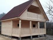 Новые Дома-Бани из бруса установка в Гродненском районе