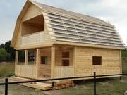 Новые Дома-Бани из бруса установка в Дятловском районе