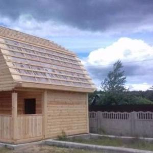 Дома из бруса Верона 6×6 установка в Новогрудском р-не