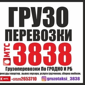 ГРУЗОПЕРЕВОЗКИ 3838. Грузоперевозки По ГРОДНО И РБ -