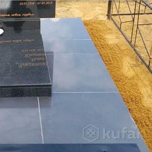 Укладка керамогранита,  плитки,  бордюра на могилу